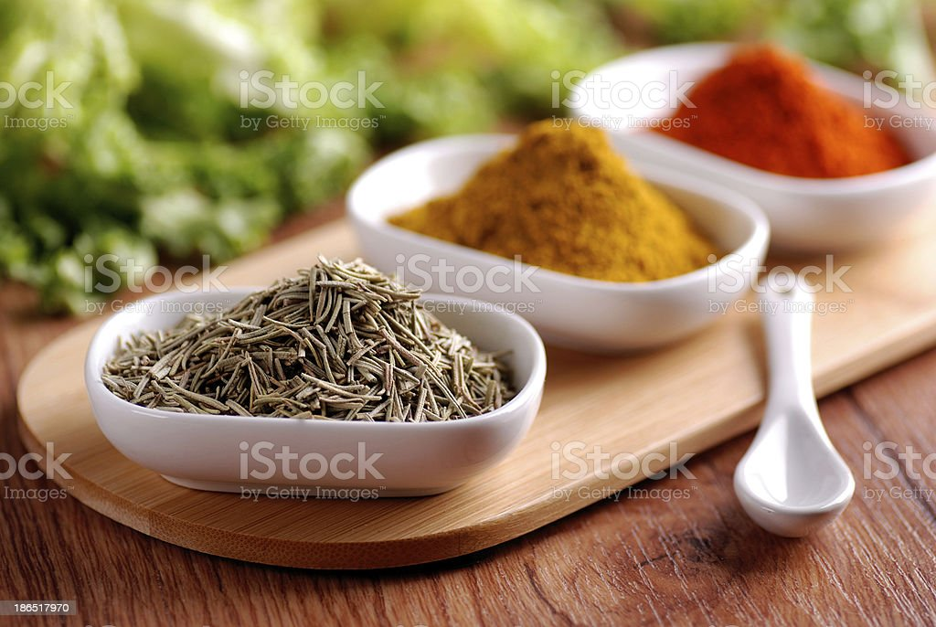 oregano and other spices royalty-free stock photo