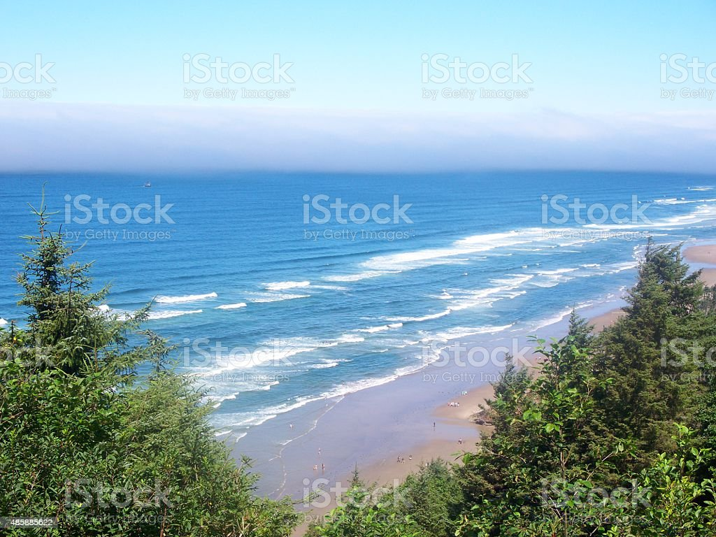 Oregon Blue Beach stock photo