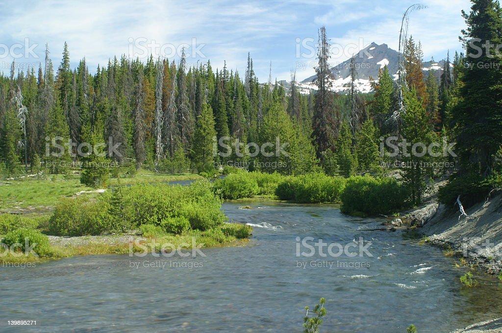 Oregon cascade portraits stock photo