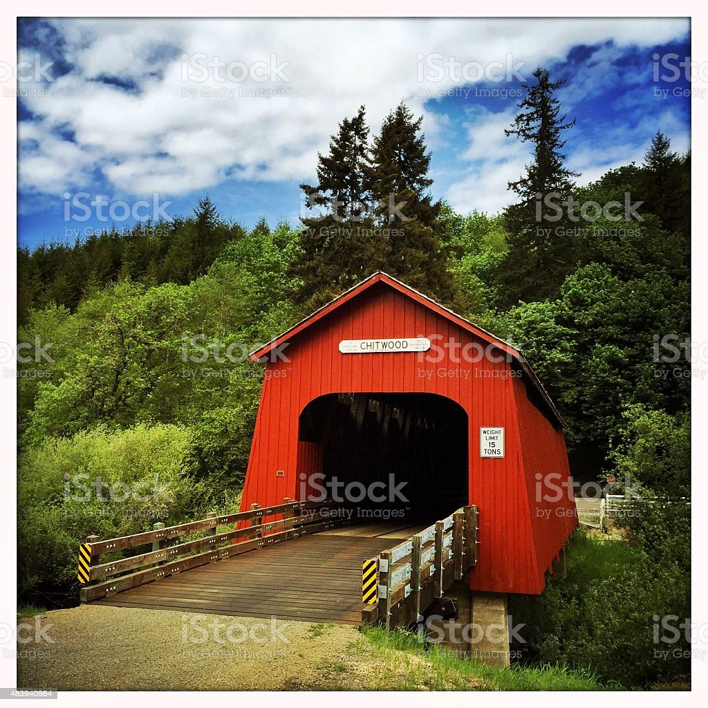 Oregon: Chitwood Covered Bridge stock photo