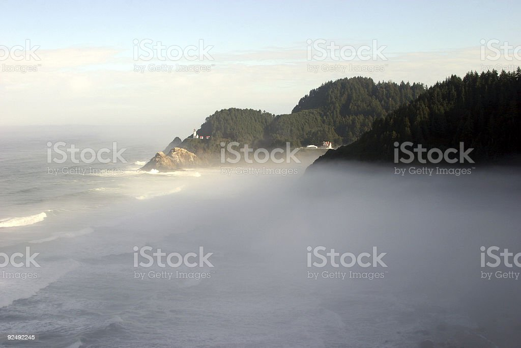 Oregon Coast Light House #3 royalty-free stock photo