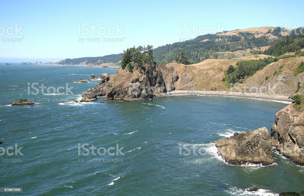 Oregon Coastal Scenery, Pacific Northwest, USA royalty-free stock photo