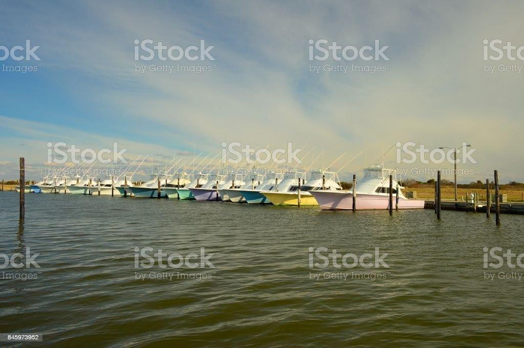 Oregon Inlet Marina stock photo