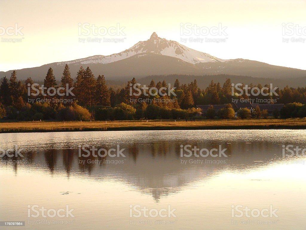 Oregon Mountain Reflection royalty-free stock photo