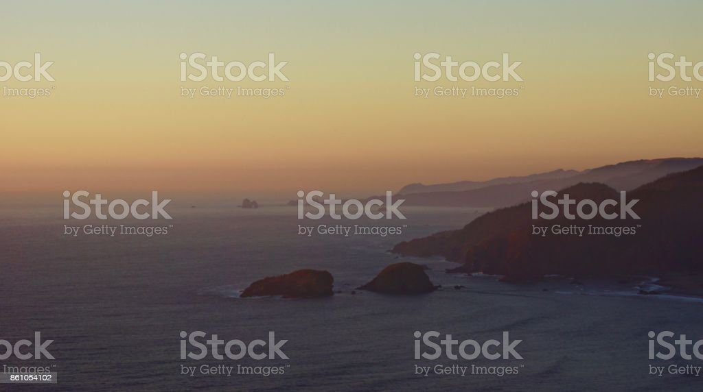 Oregon Ocean Sunset stock photo