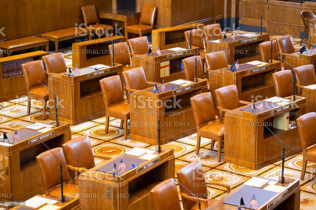 Chambre du sénat oregon state capitol bureau devant préside