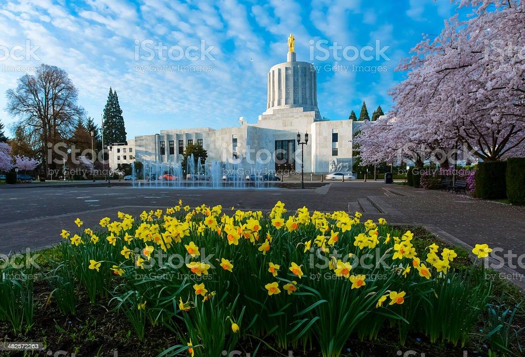 Oregon State Capitol, Salem stock photo