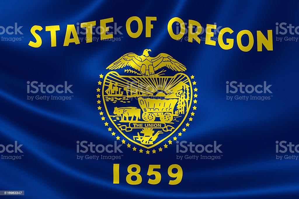 Oregon State Flag stock photo