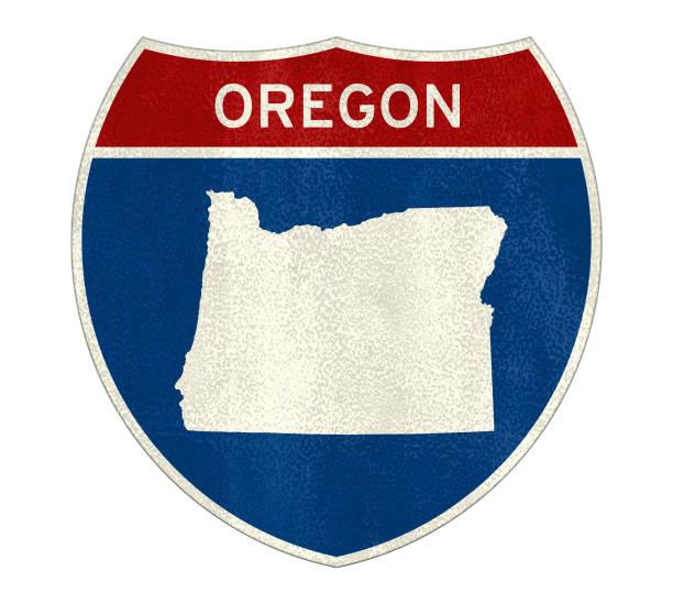 Oregon State Interstate Road Sign – Foto