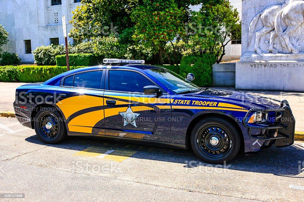 Oregon State Trooper Police vehicle stock photo