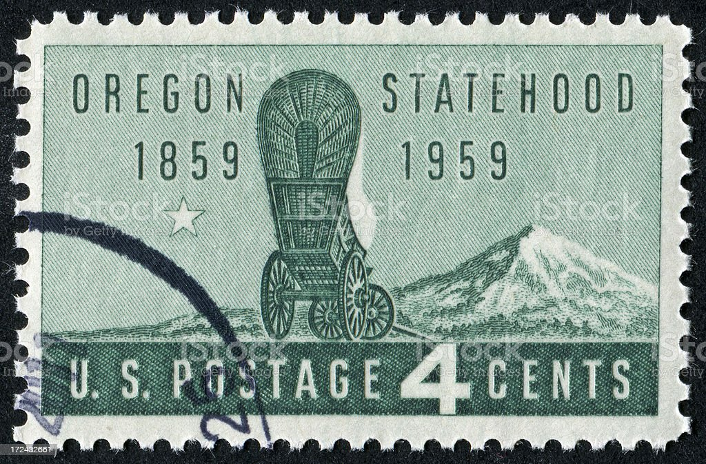 Oregon Statehood Stamp royalty-free stock photo