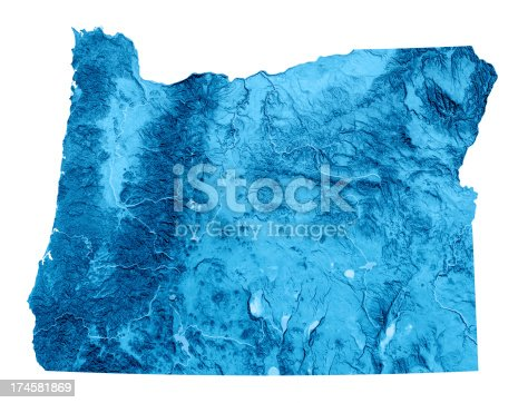 173169385 istock photo Oregon Topographic Map Isolated 174581869