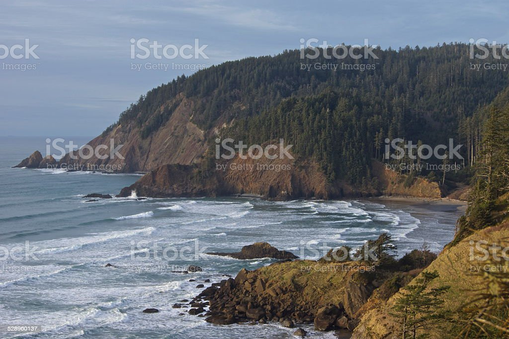 Oregon's Indian Beach stock photo