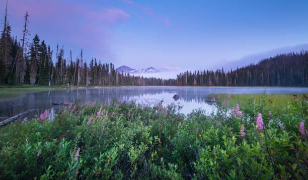 Oregon's Scott Lake stock photo