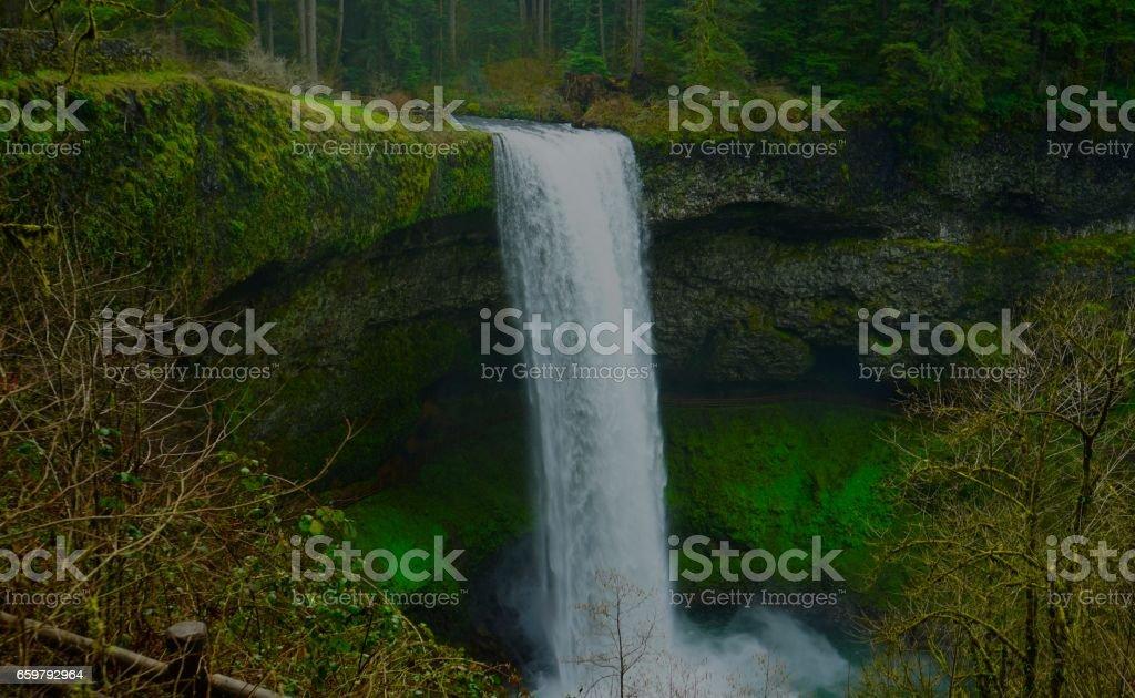 Oregon's South Falls stock photo