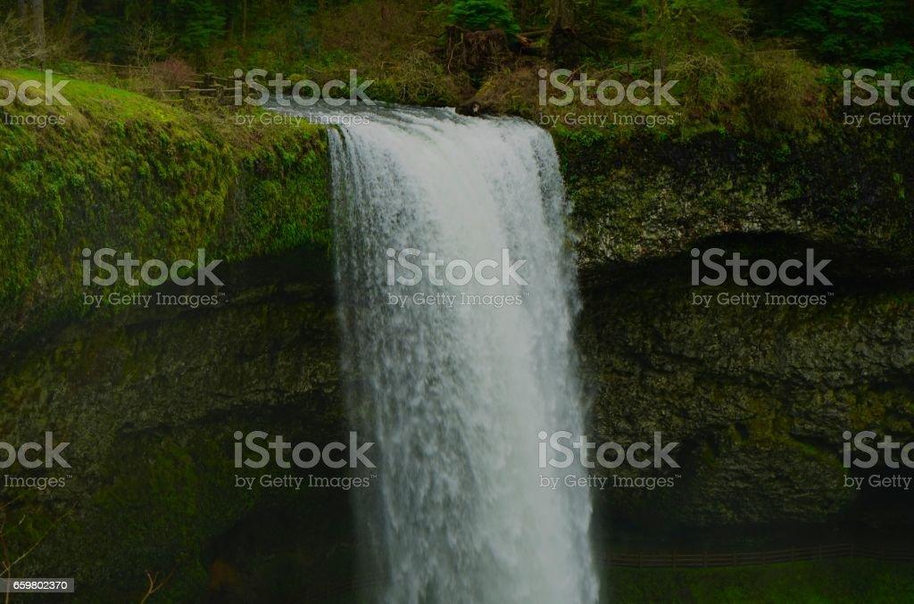 Oregon's South Falls Zoom stock photo