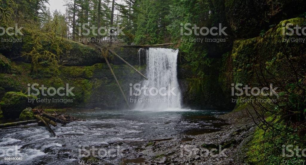 Oregon's Upper North Falls stock photo