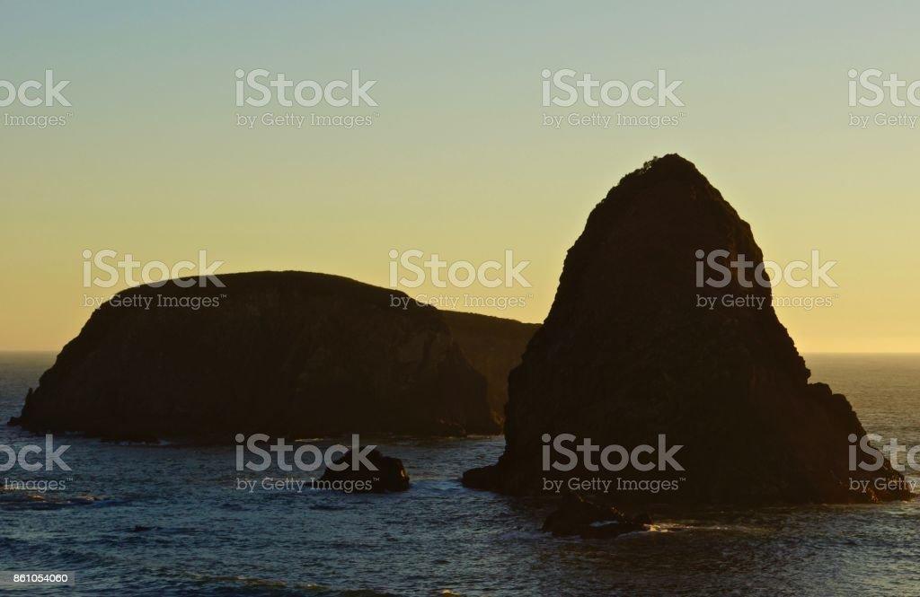 Oregon's Whaleshead Rock stock photo