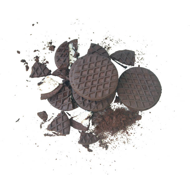 Oreo and cream.With Clipping Path. stock photo