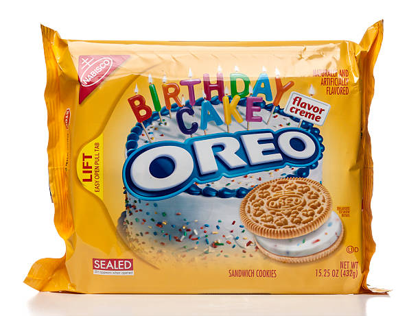 Super Oreo Birthday Cake Flavor Creme Sandwich Cookies Package Stock Birthday Cards Printable Riciscafe Filternl