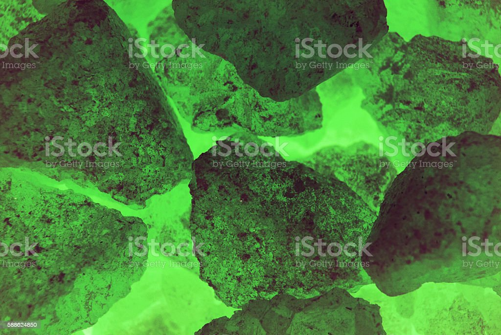 Ores in Green Light stock photo