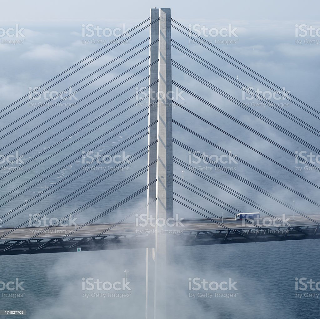 Oresund bridge stock photo