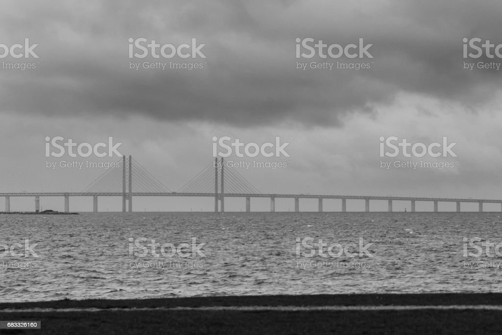 Oresund Bridge foto stock royalty-free