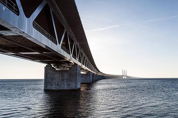 oresund bridge,oresunds bron, bridge on the sea - öresund bildbanksfoton och bilder