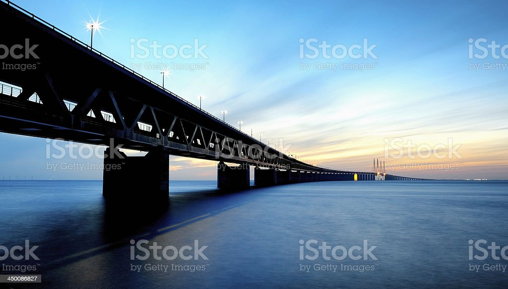 Oresund Link bridge stock photo
