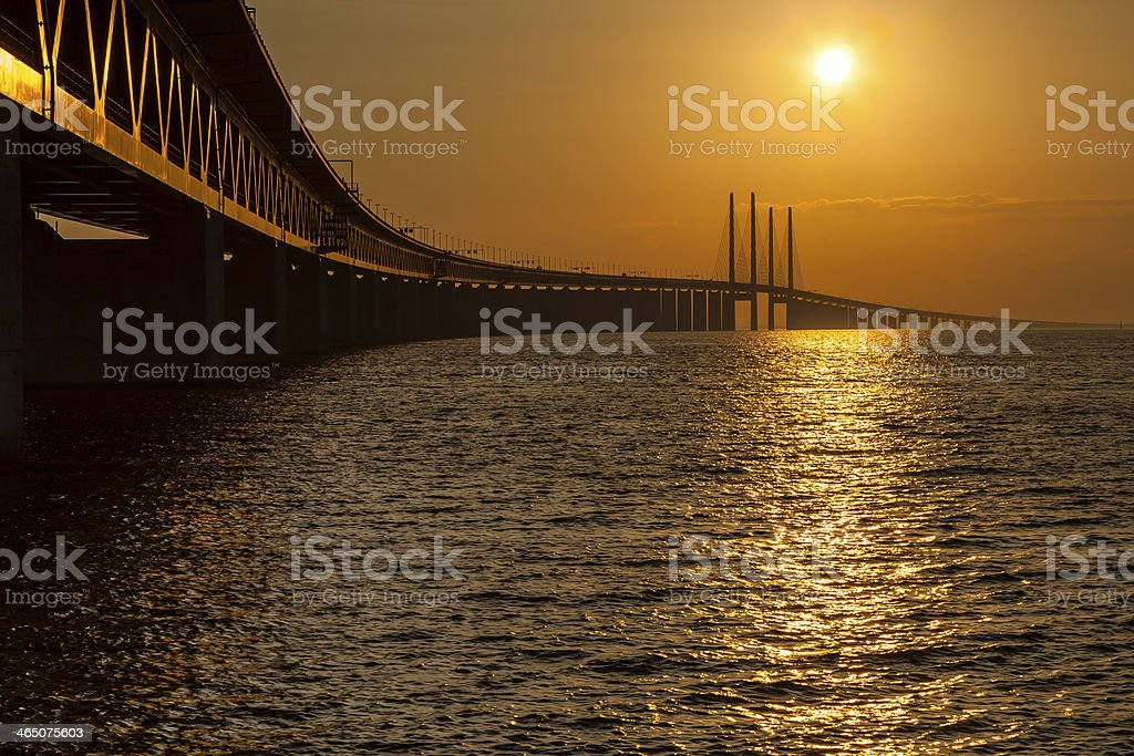 Oresundsbridge stock photo