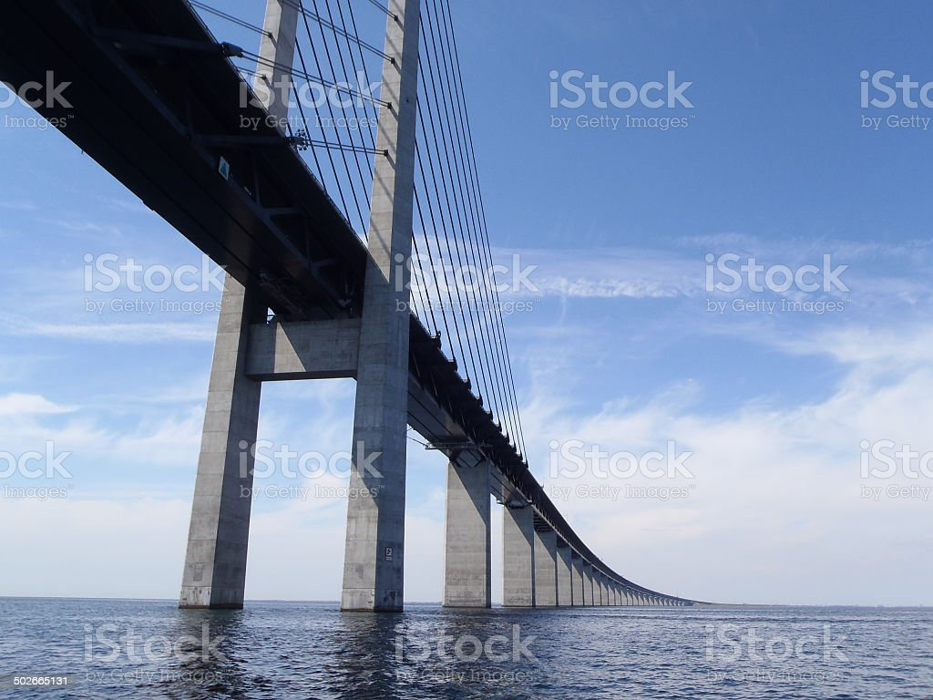 Oresundsbron Bridge stock photo
