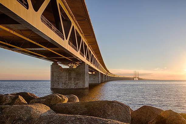 oresundsbron bridge - öresund bildbanksfoton och bilder