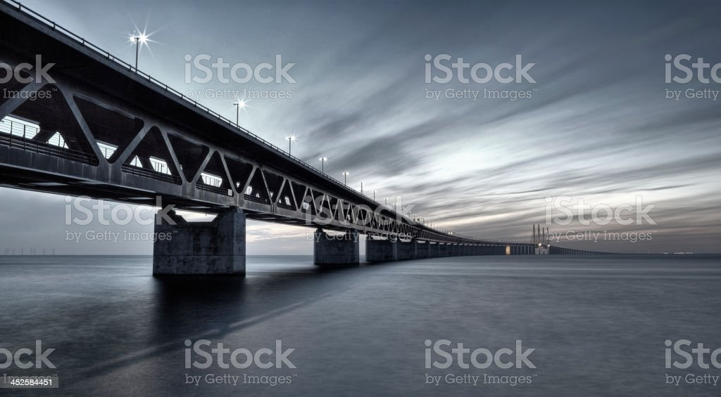 Oresundsbron Link Bridge filtered stock photo