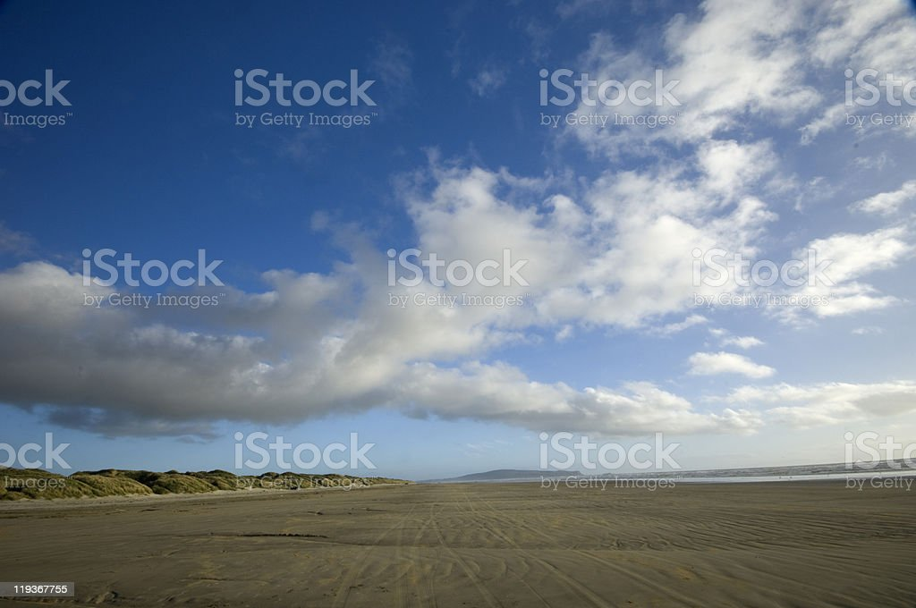 Oreti Beach, Invercargill New Zealand  Beach Stock Photo