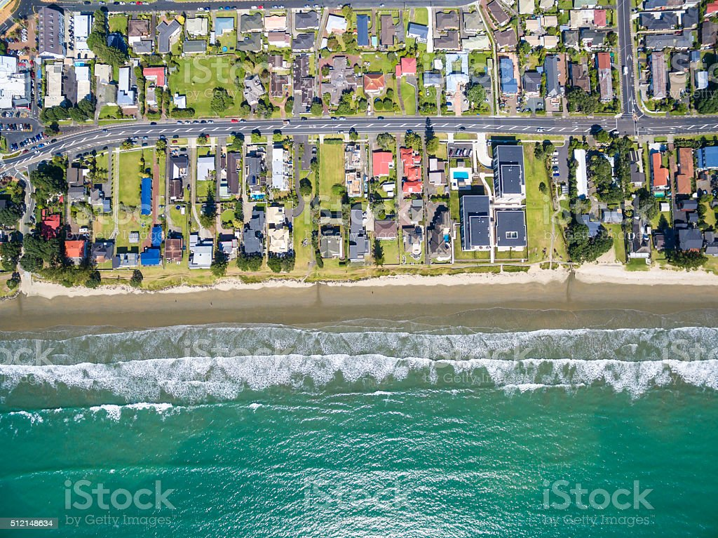 Orewa Beach stock photo