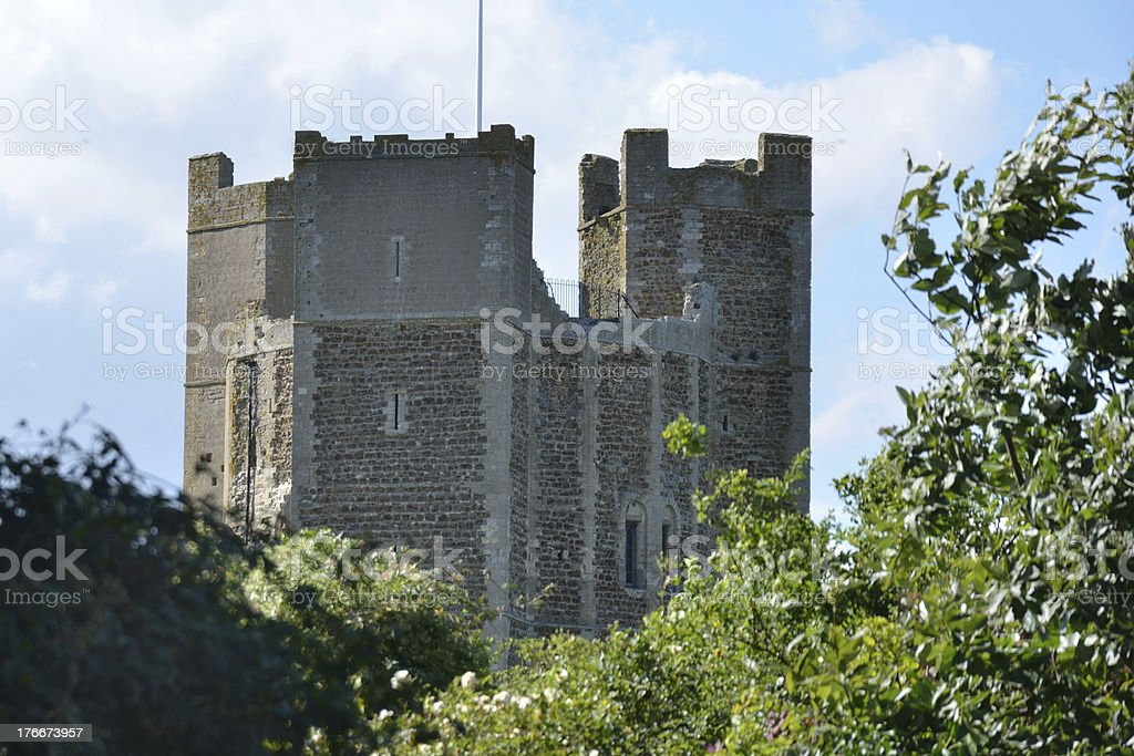 Orford Castle Through Trees royalty-free stock photo