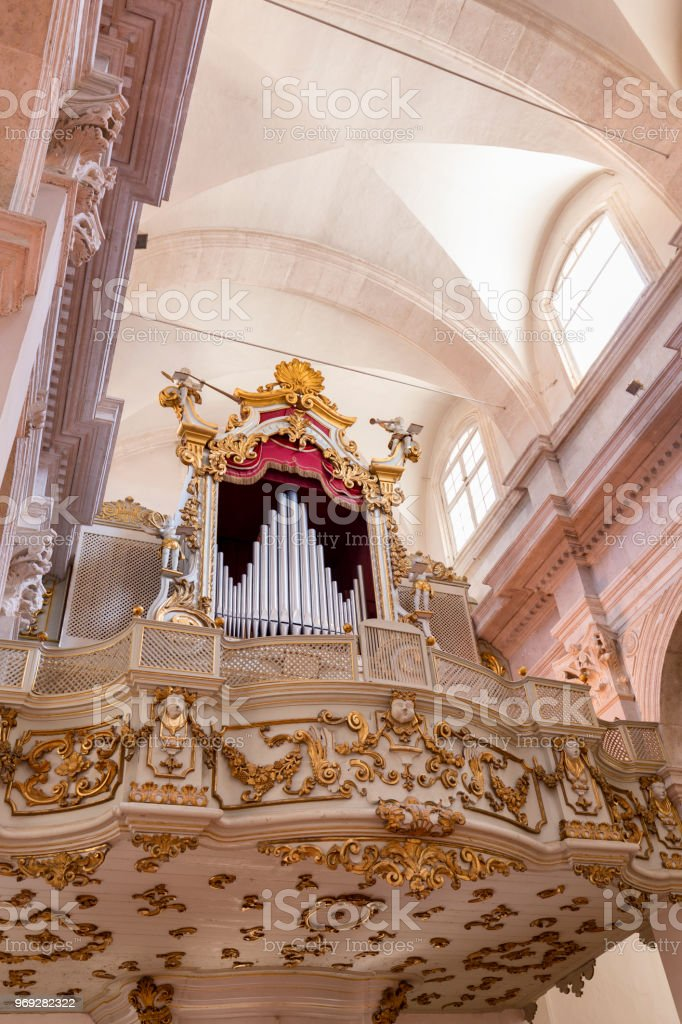 Organ and Ceiling stock photo