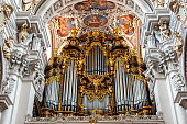 """Organ at St. Stephan's Cathedral, Passau. It is the largest cathedral organ in the world. The organ currently has 17,774 pipes and 233 registers"""