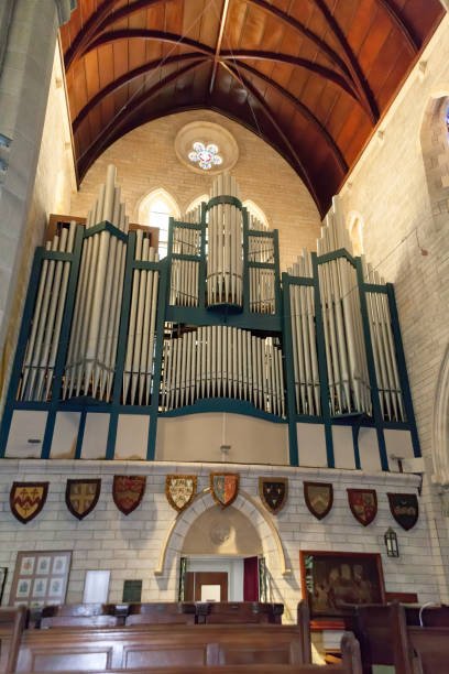 Organ in the Cathedral of the Most Holy Trinity in Hamilton, Bermuda stock photo