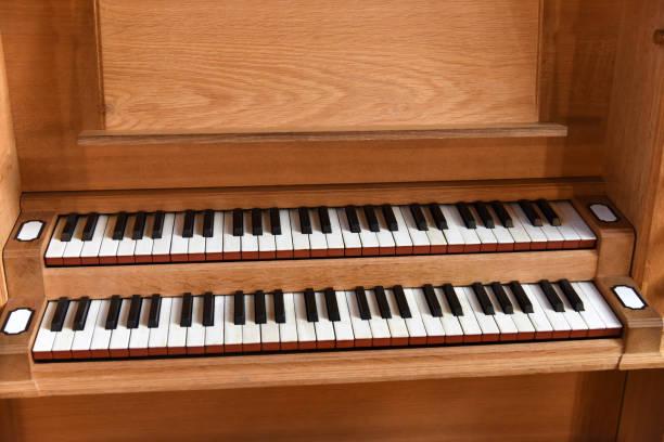 Organ Key stock photo