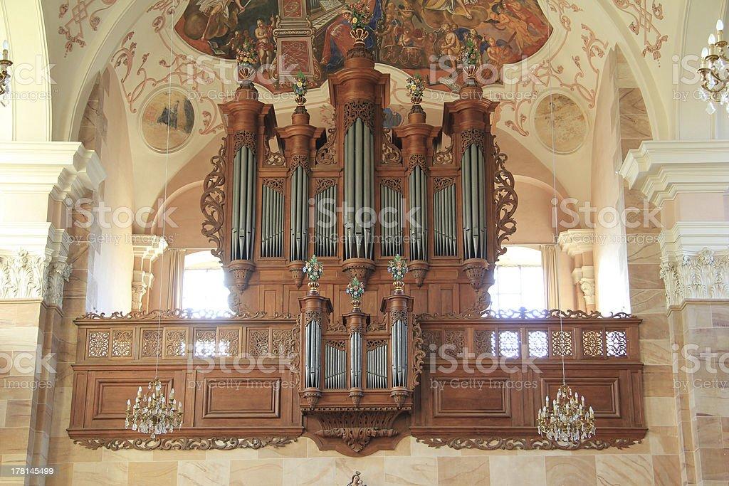 Organ of church royalty-free stock photo