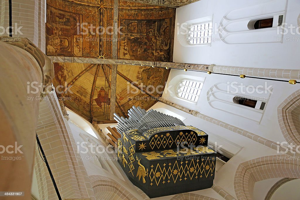 Organ of Grand Church in Naarden, The Netherlands royalty-free stock photo