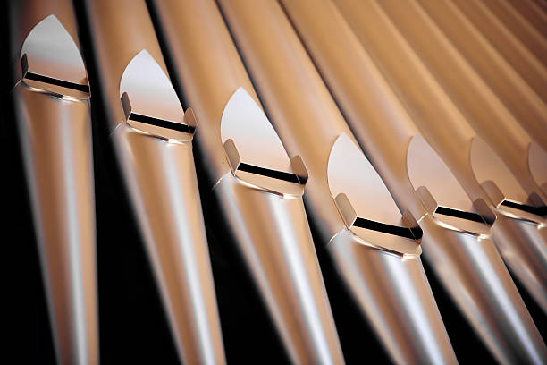 Organ pipes detail stock photo