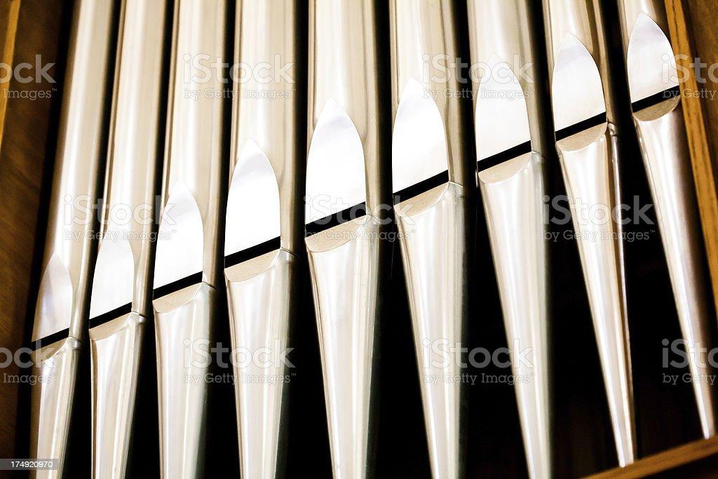 Organ pipes detail royalty-free stock photo