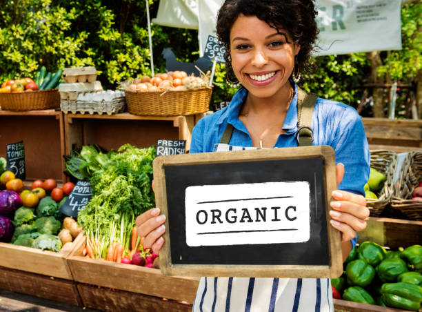 Organic and fresh produce Fresh Natural Organic Product Concept organic farm stock pictures, royalty-free photos & images