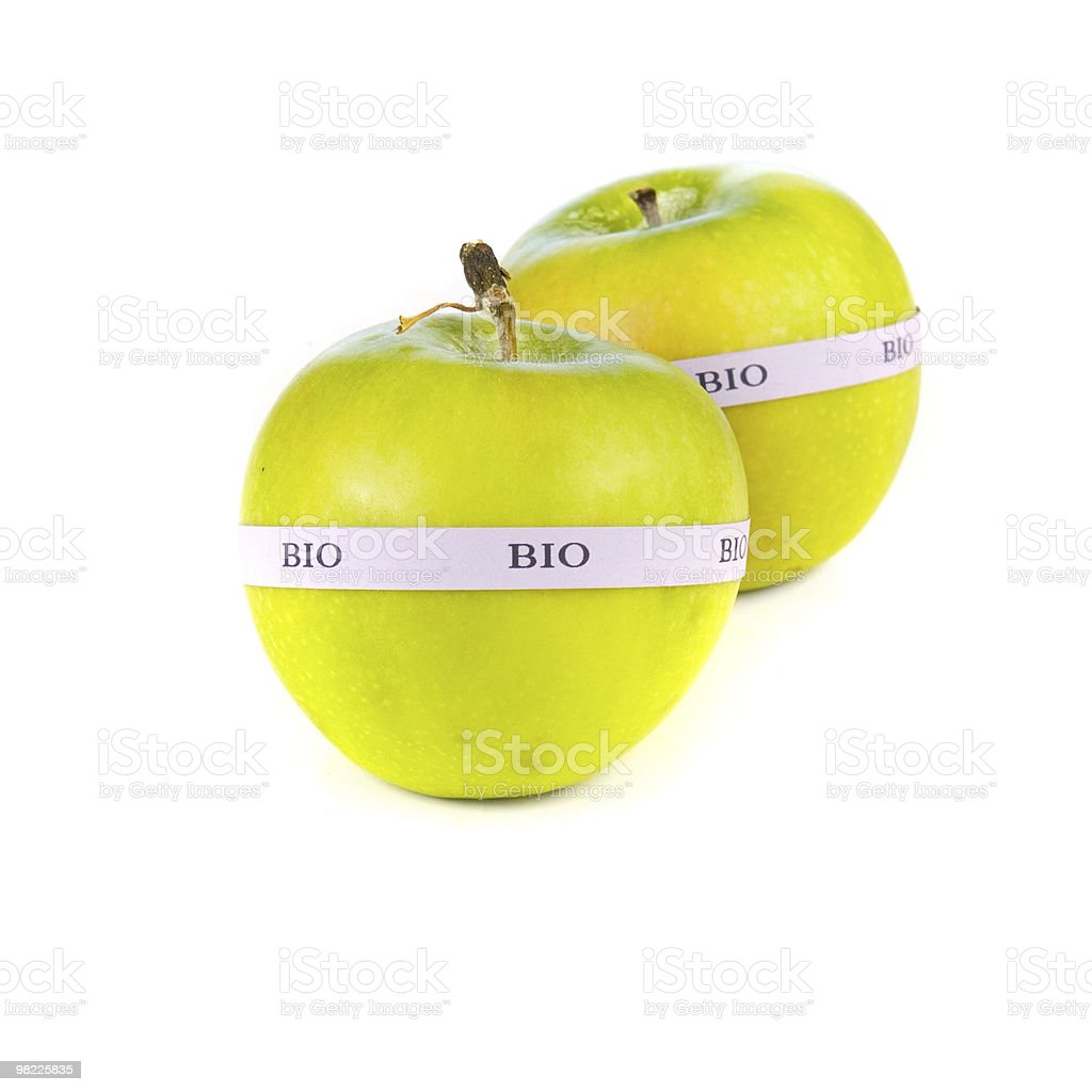 Organic apples royalty-free stock photo