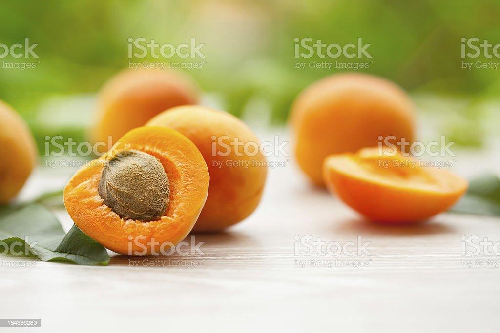 Organic Apricots stock photo