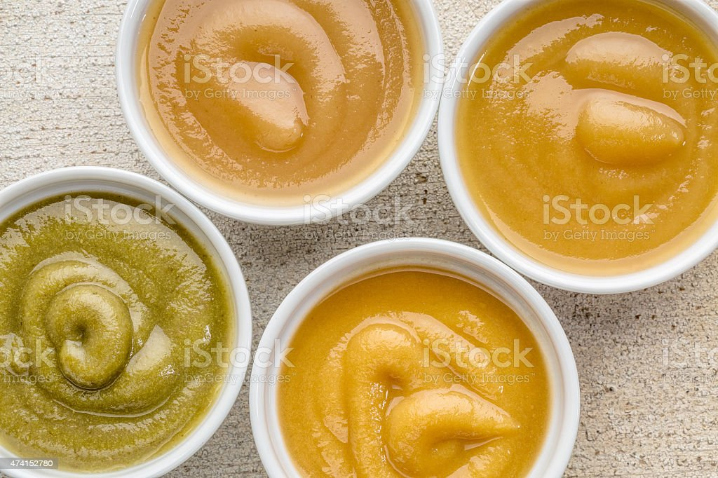 organic baby food or snack stock photo