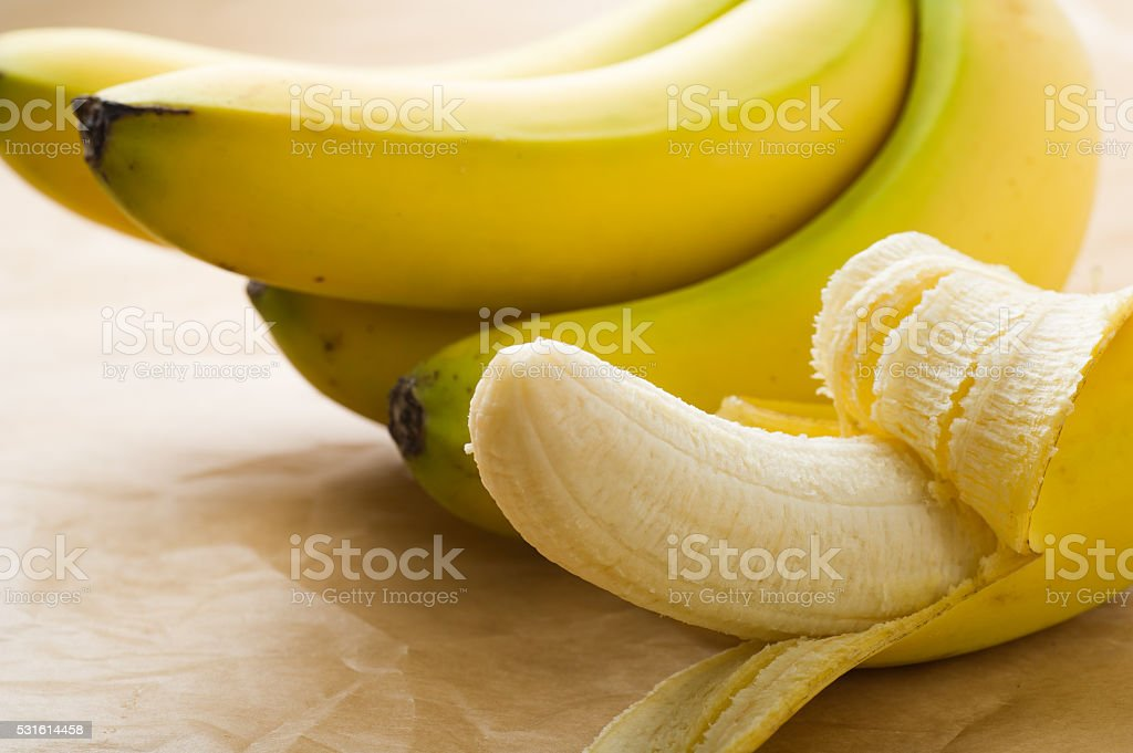 Organic Bananas bildbanksfoto