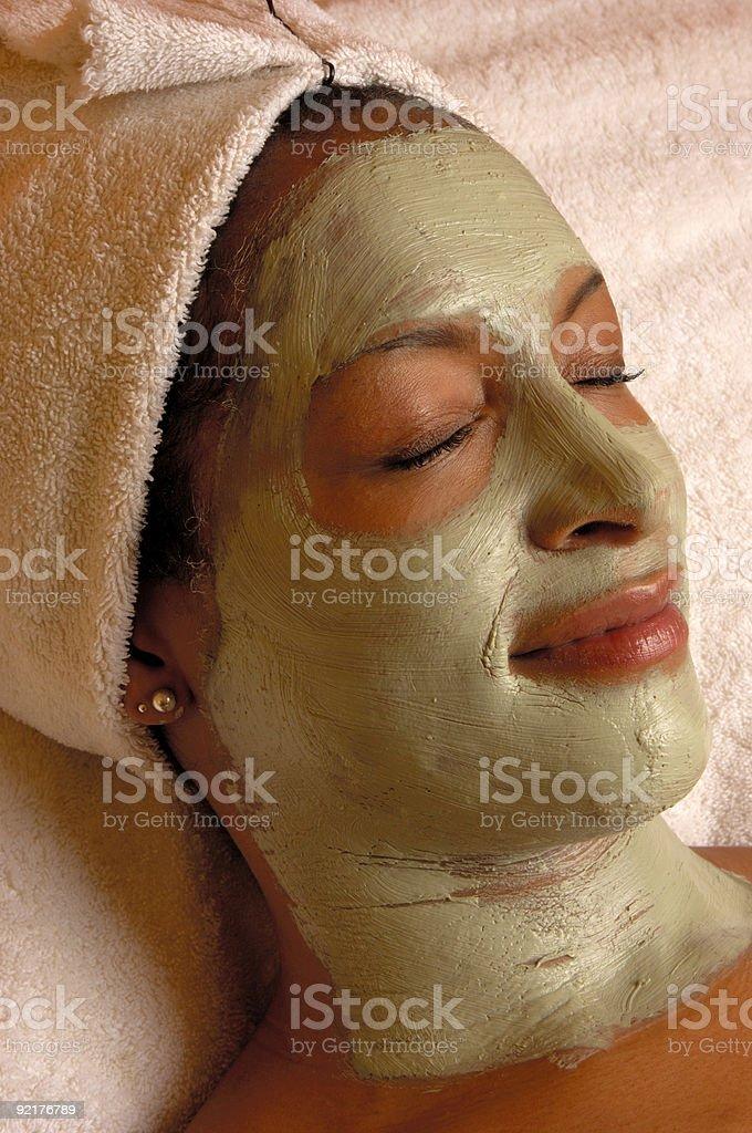 Organic Beauty Aroma Facial Masque stock photo
